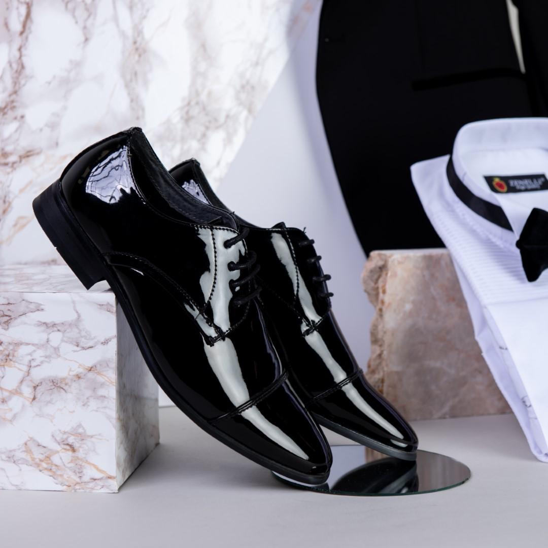נעלי חתן שחורות לכה